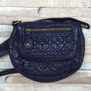 Navy Blue Quilted Crossbody Bag American Eagle